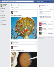 Facebook rolls out a new look for its News Feed
