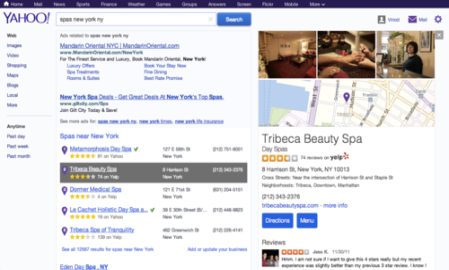 Yahoo will now highlight Yelp listings in its search results