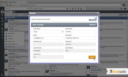 Hootsuite announces integration with Marketo's marketing automation platform