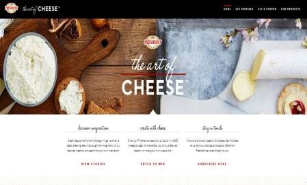 "President Cheese partners with bloggers to create visually engaging ""Art of Cheese"" recipe site"