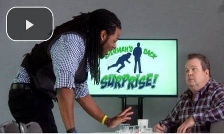 Watch Richard Sherman get pitched awful viral content ideas by a social media expert