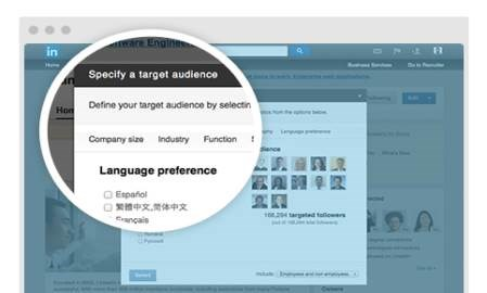 LinkedIn adds targeting by language for its Company Pages