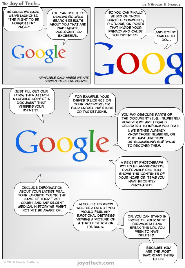 Comic: Why Google will never forget you