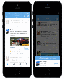 Advertisers can now promote their mobile apps through Twitter