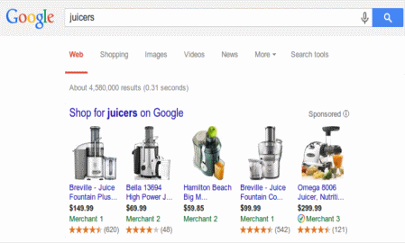 Google Shopping now features ratings for its product ads