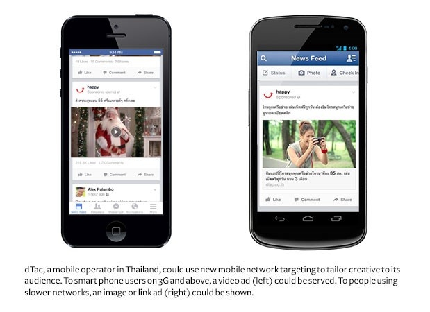Your cell phone signal will now determine what type of Facebook ad you see