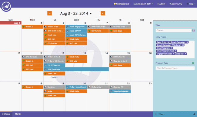 Marketo's new Marketing Calendar enables campaign planning and execution in a single dashboard