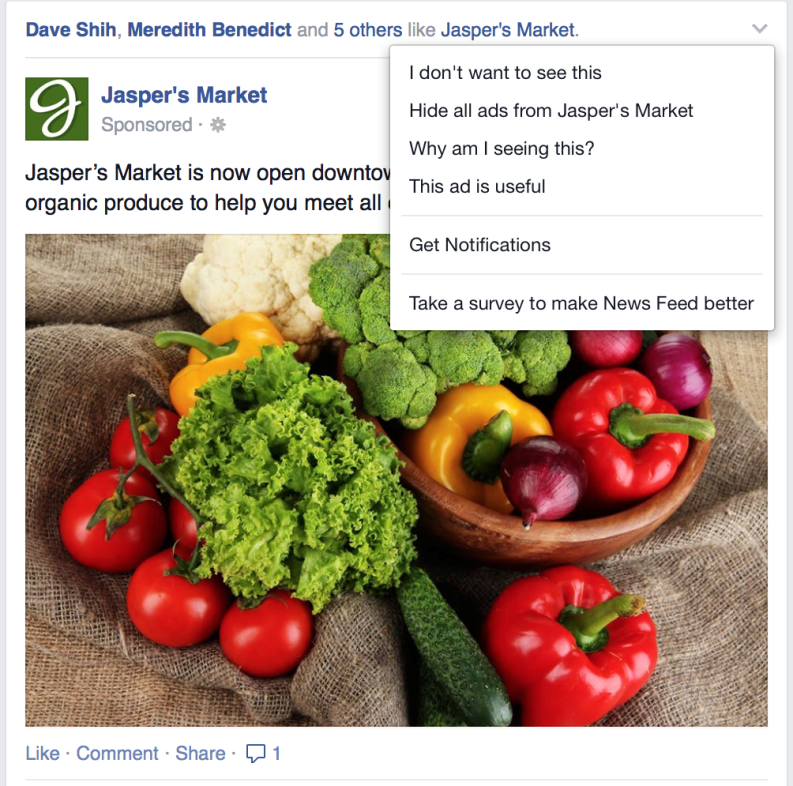 Facebook will now use direct user feedback to stop showing low quality or offensive ads