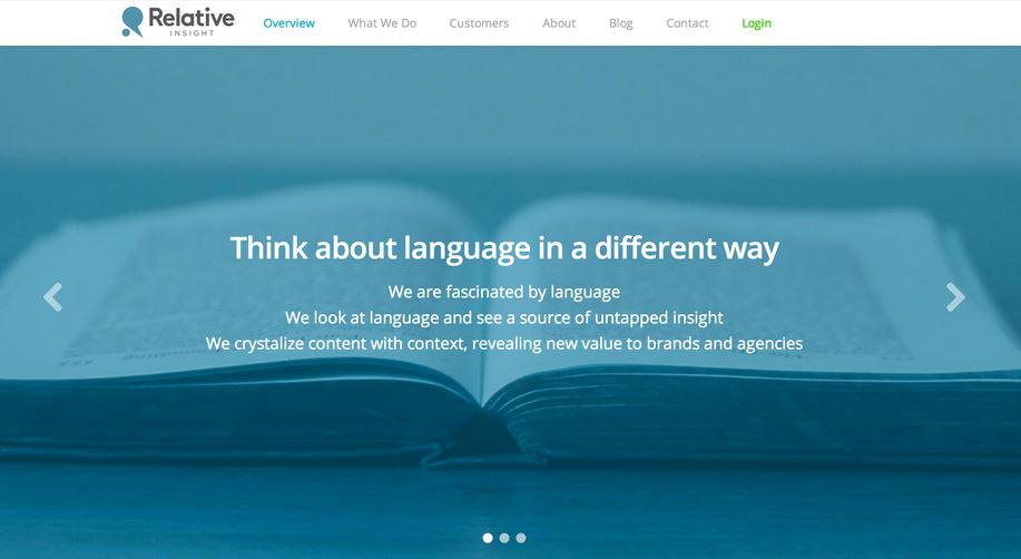 Brand messaging analysis platform Relative Insight