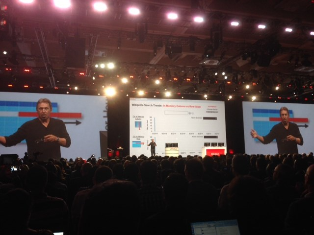 "Larry Ellison declares Oracle ""leader in marketing,"" takes shots at Salesforce at Open World keynote"
