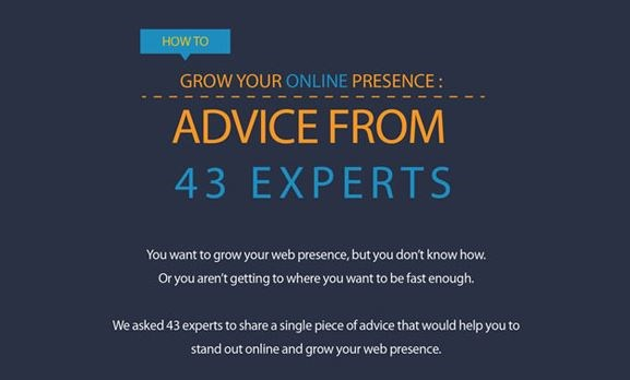 Infographic: 43 expert tips on how to grow your online presence