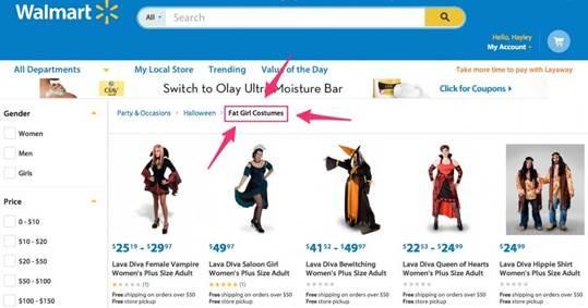 "Dumb and Dumber: Walmart's awful social media response to ""Fat Girl"""