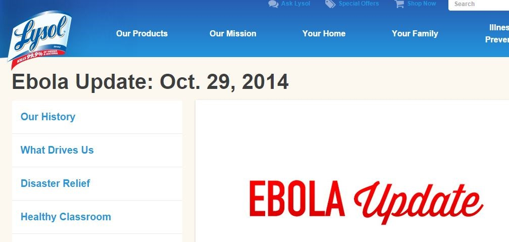 "Did Lysol exploit an epidemic by buying the top Google search result for ""Ebola"""