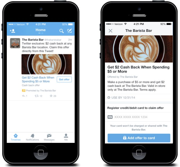 Brands on Twitter can now start offering discounts within tweets
