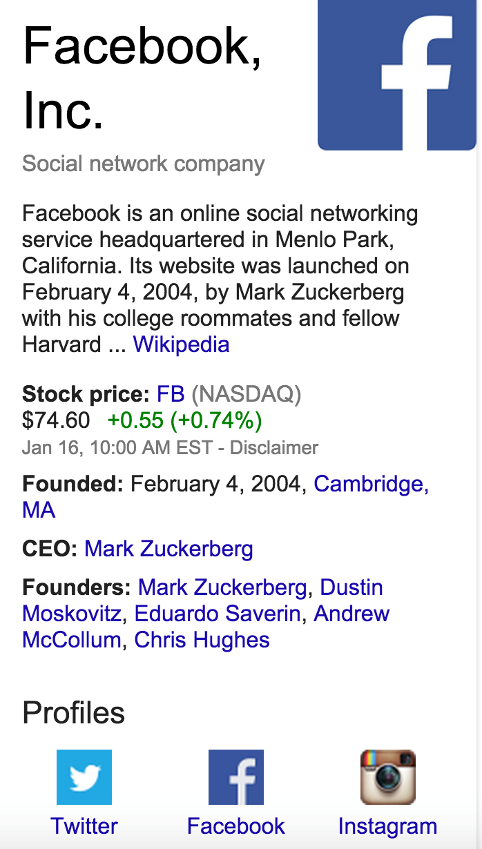 Google now highlighting social profiles beyond G+