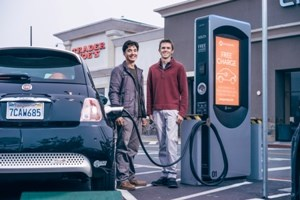 Volta charges electric cars, reaches shoppers