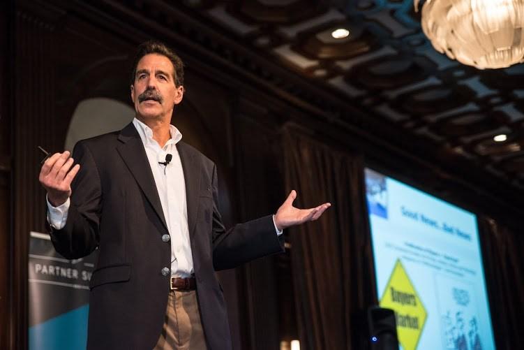 Jeff Kaplan speaking at an event (THINKstrategies.com)